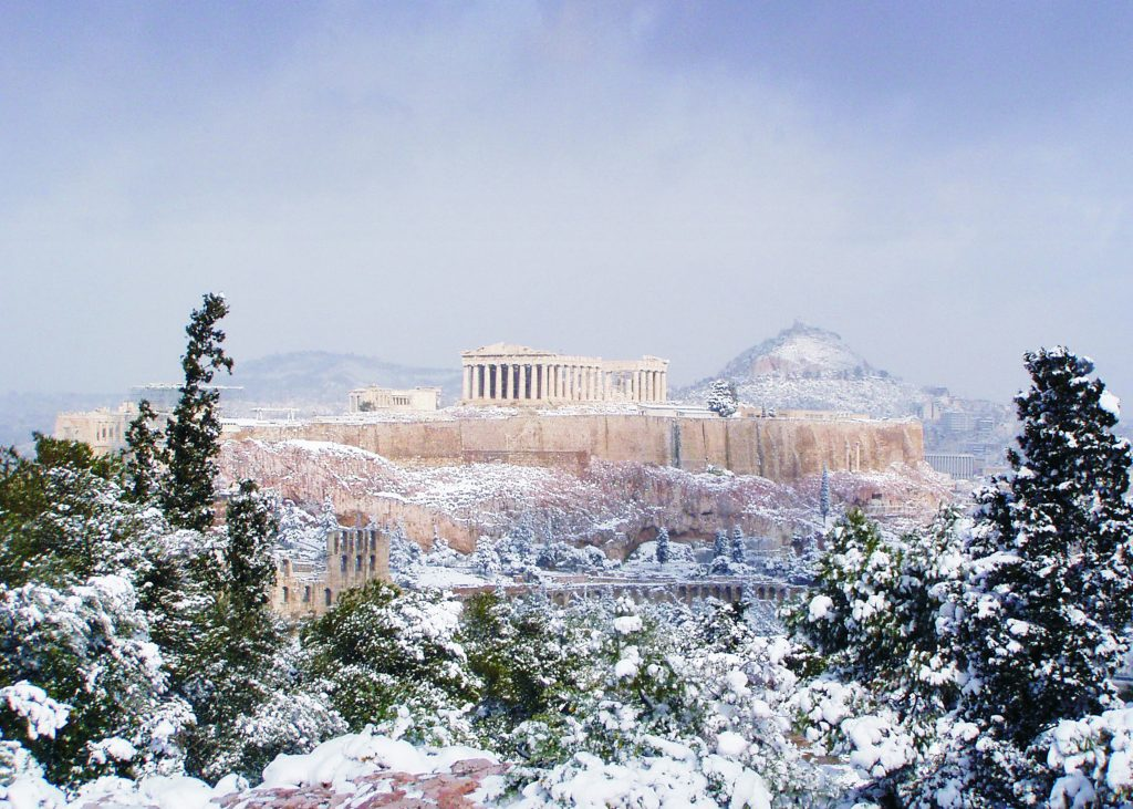 athens winter greece